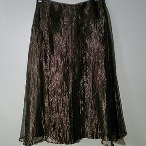 Dresses & Skirts - Karen Warren silk metallic skirt, size 4